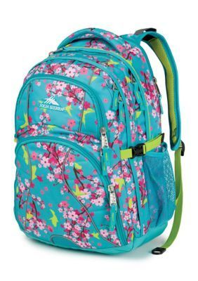 High Sierra  Swerve Backpack - Blossoms Aqua