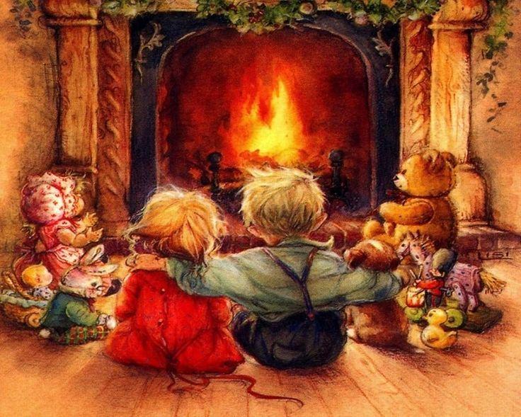 Картинки семья у очага