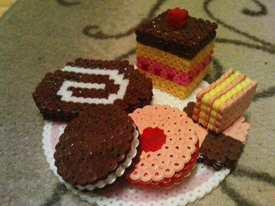 food | 3D Cookies and Cakes perler beads by E. P.- Perler® | Gallery