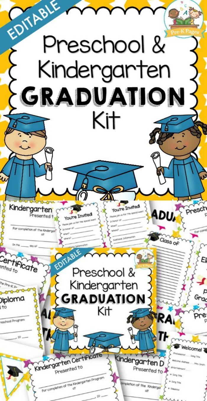 Printable Preschool And Kindergarten Diploma Certificates Kindergarten Graduation Programs Kindergarten Diploma Preschool Graduation [ 1357 x 700 Pixel ]