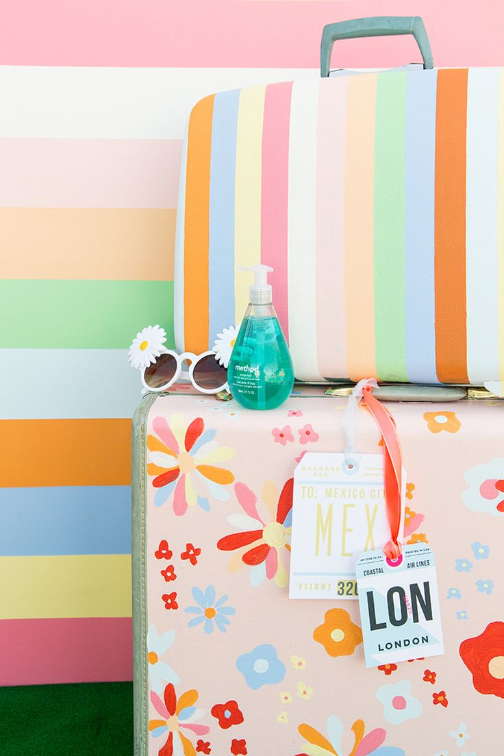 Paint a suitcase! #stylebymethod #fearnomess #ad @methodhome