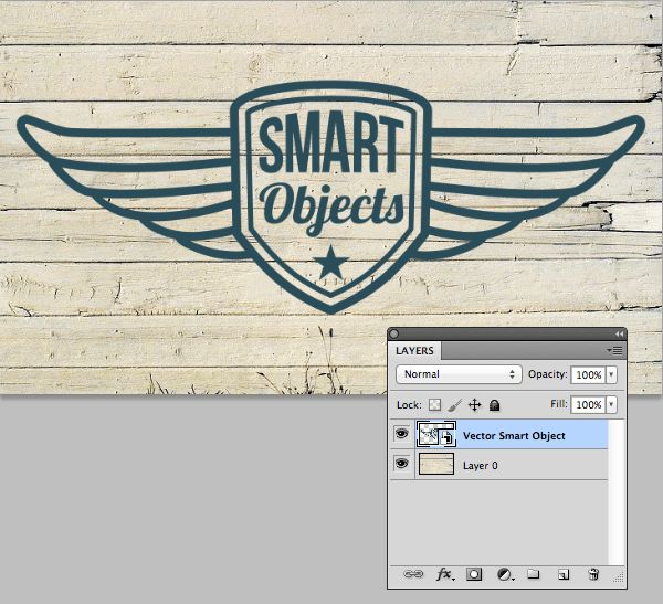 Create a weathered painted effect with a vector smart object