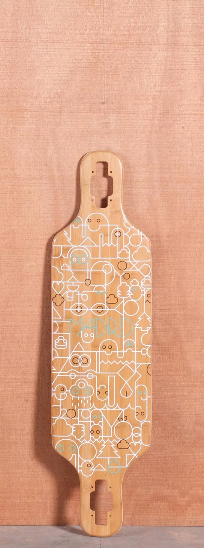 Madrid 34.25 Remix Bamboo Longboard Deck