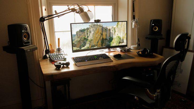 The Custom Wood Ultrawide Workspace
