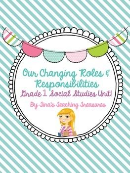 Included: Introduction to Responsibilities & Roles Anchor Chart Headers (4) Poems (2, word work activity prompts provided) 2 student response sheets (each with writing space or simply picture space) Cut and Paste matching roles with locations How Roles Change Over Time anchor c...