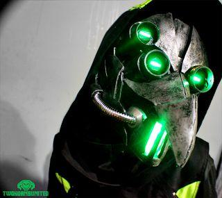 Sci-fi light-up plague doctor mask/helmet by Brian Cargile.
