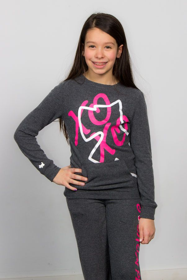 XOXO Perets <3, Girls sweats outfits, Scottish terrier logo, Grey, white and pink print