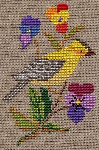 Vintage Bird Cross Stitch