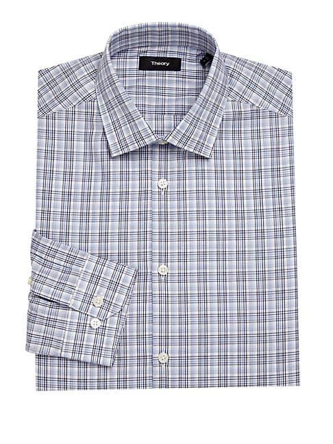 d5f648bd0ff THEORY DOVER PLAID DRESS SHIRT. #theory #cloth | Theory | Slim fit dress  shirts, Shirt Dress, Plaid design