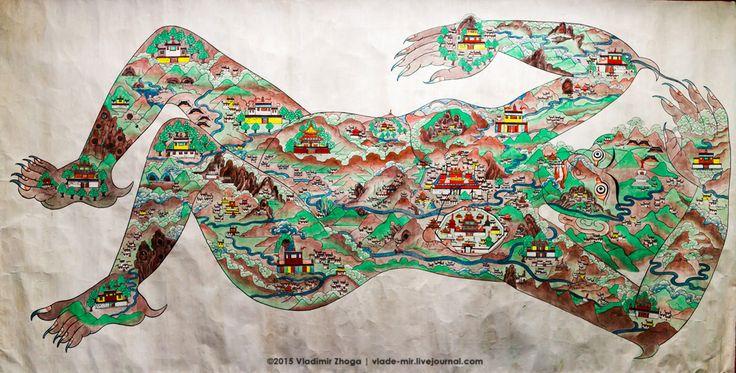 Тибетская демоница. Легенда о демонице. #тибет #демоница #vladimirzhoga