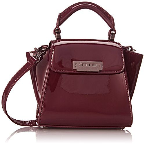 ZAC Zac Posen Eartha Iconic Mini Convertible Top Handle Bag, Vino, One Size