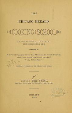 The Chicago herald cooking school