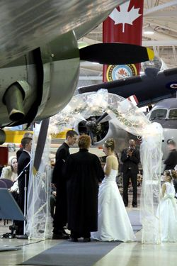 Getting married at the Canadian Heritage Warplane Museum -The experience begins the moment you and your guests arrive at our fabulous facility where nostalgia fills the air and the museum's extraordinary collection of vintage aircraft set the stage. There is just nothing like it.