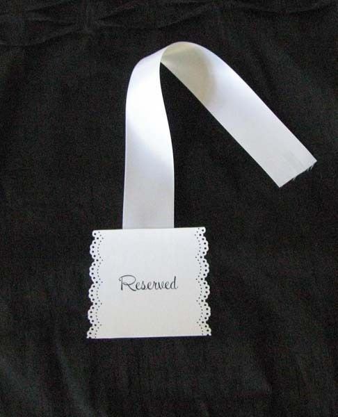 Simple Reserved Seating Signs :  wedding ceremony decor diy Reserve