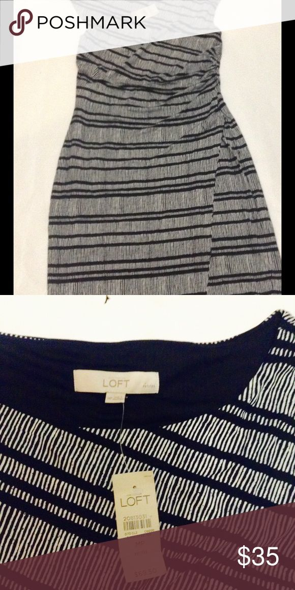 New Ann Taylor Loft Black and White dress size MP. New with tag Ann Taylor Loft dress, black/White, size Medium Petite, excellent condition. Ann Taylor Dresses Midi