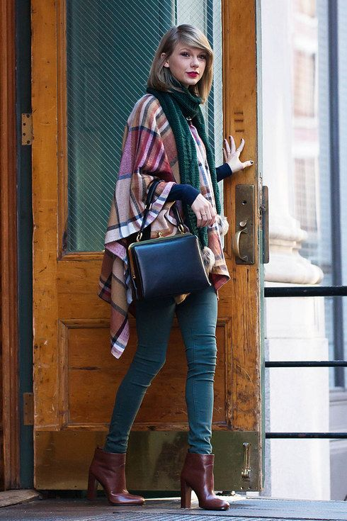 Taylor's winter wardrobe is all about deep colours and checks, and yours should be too! | 11 Taylor Swift Inspired Outfits That Need To Be In Your Closet