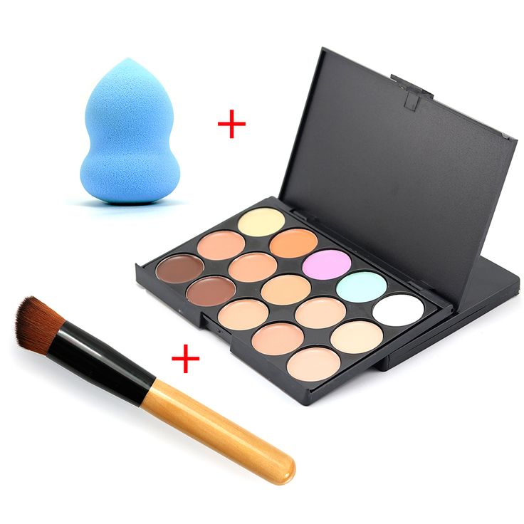 15 warna Merek Primer Makeup Foundation Wajah Concealer Palette Pallete Warna Mengoreksi Dasar Wajah Contour Concealer Makeup Set