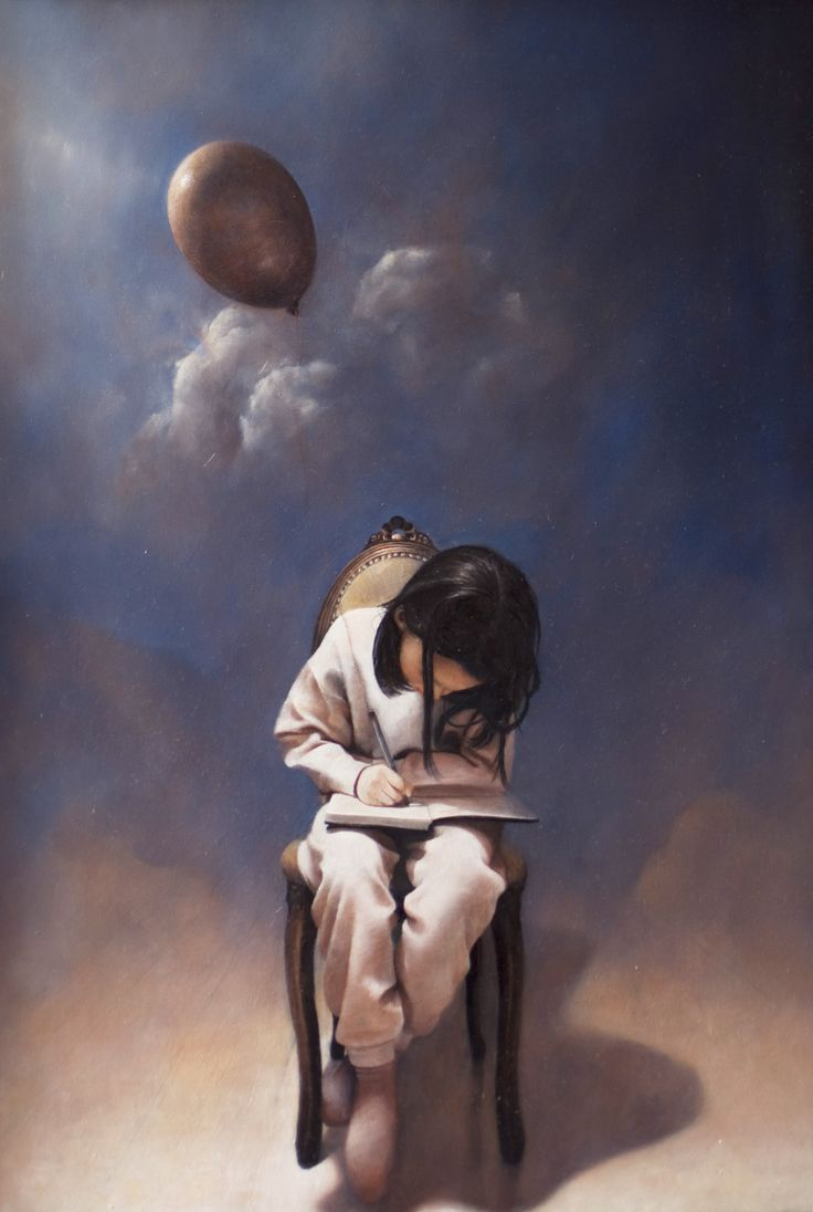 "Andrea Esposito, ""C'era una volta"", olio su tavola, 50x30cm, 2008"