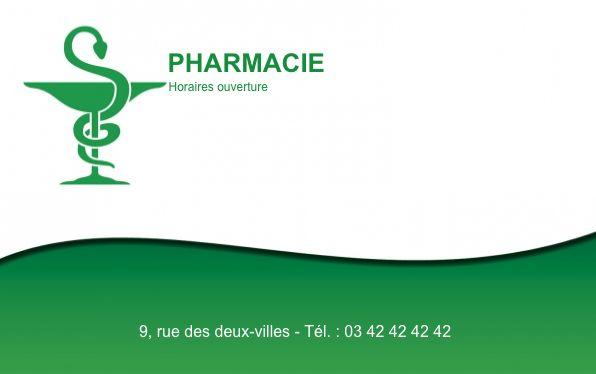 Grande Carte De Visite Pharmacie Creez Gratuitement A Partir Modele En Ligne Votre