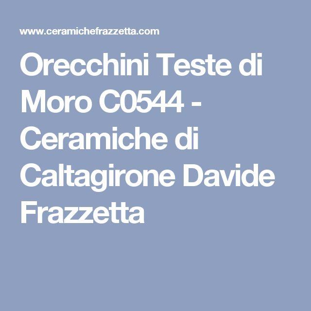 Orecchini Teste di Moro C0544 - Ceramiche di Caltagirone Davide Frazzetta