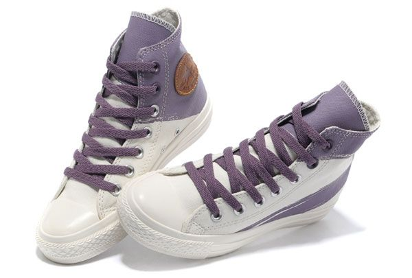 High Top Shoes for Women | 2013 Converse Girls High Tops White Purple Painted Shoes For Women