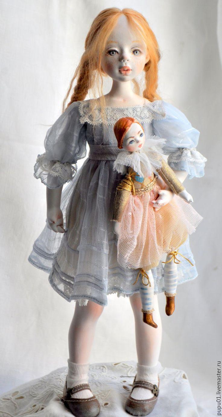 Купить Коллекционная кукла Василиса - голубой, кукла ручной работы, авторская кукла, кукла коллекционная