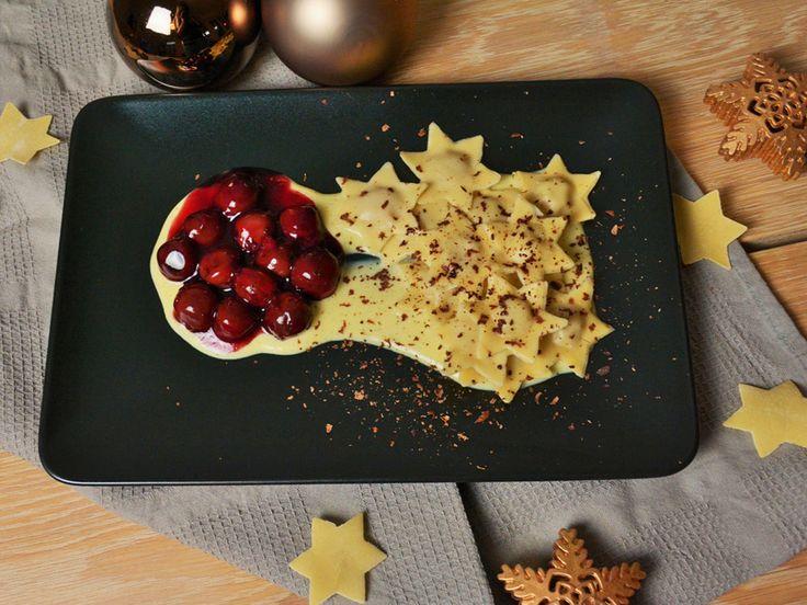 {Adventsbesuch} Süße Weihnachtsravioli mit Vanillesoße