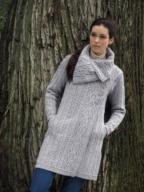 Chunky Aran Button Coat X4416