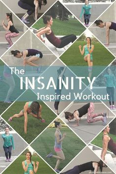 This Insanity Inspired Workout takes some the the classic HIIT moves from the Insanity DVD series and combines them into one amazing, heart-pumping, total-body workout!