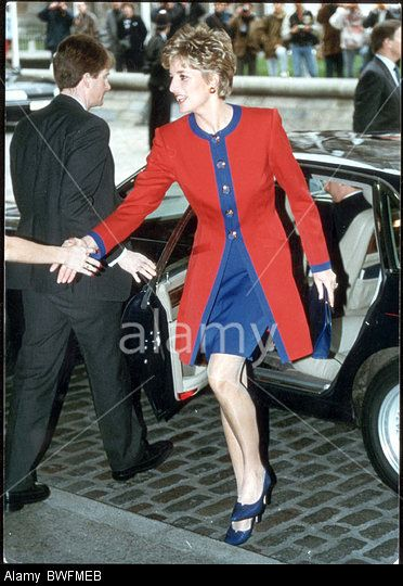 Diana Princess Of Wales - 1993 Princess Diana dead 8 1997 Arrives At Children Of Achievement The Princess Of Wales Met 150 Of Stock Photo