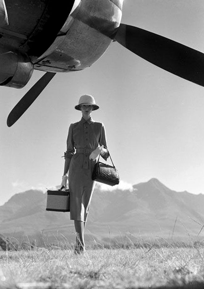 This woman is going places!! (Propeller. Horst P. Horst)