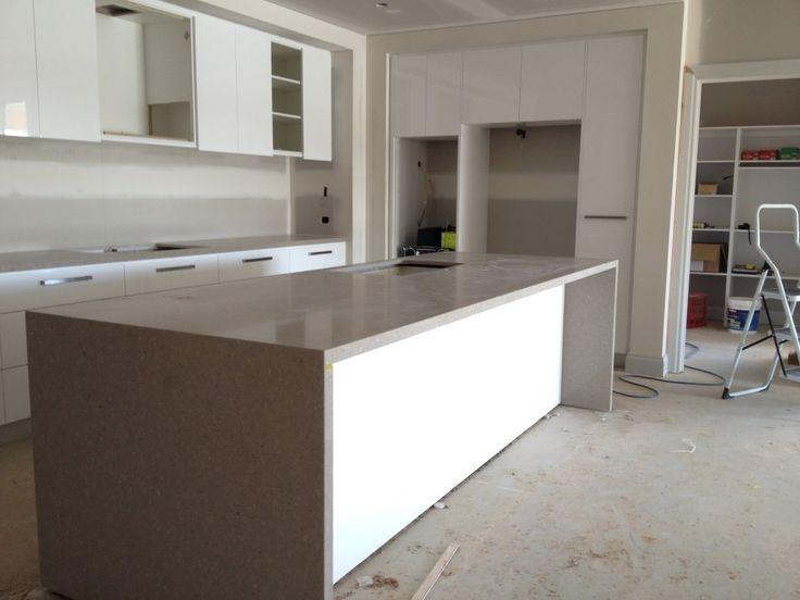 caesarstone shitake island bench kitchen