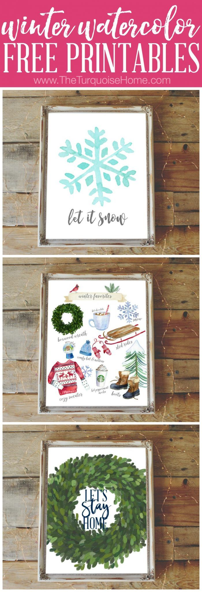 Winter Favorites Free Printables - just for you!! Yay!