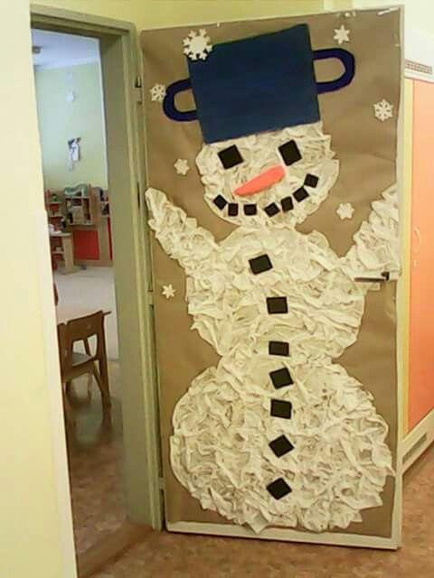 Sněhulák z papir.kapesníčku