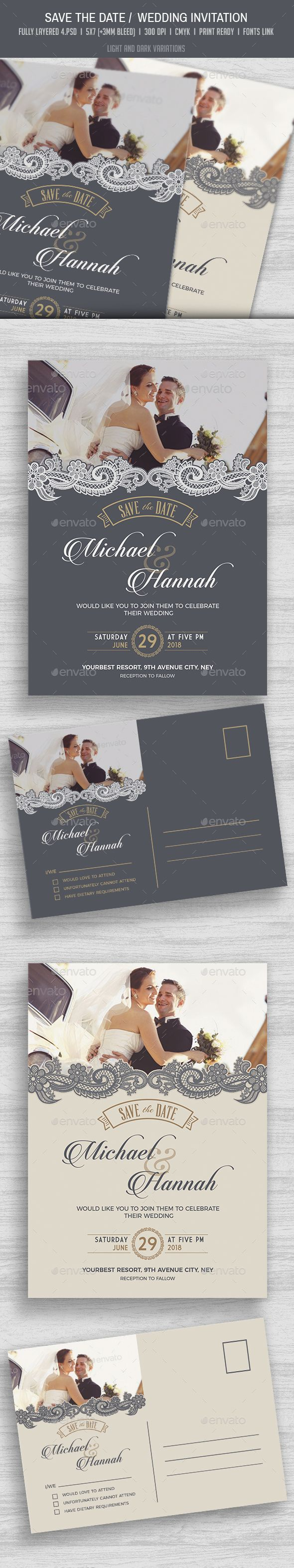 size of response cards for wedding invitations%0A Save the Date   Wedding Invitation  u     RSVP