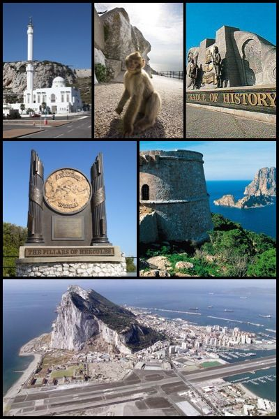 The Rock of Gibraltar, British Territory.