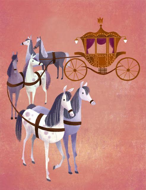 the brigette brigade - Cinderella's carriage - beautiful illustration
