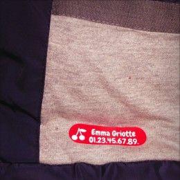Etiquette thermocollante for clothes
