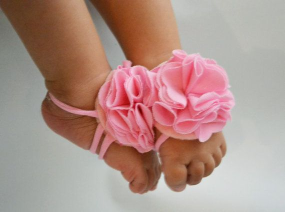 So adorable! Must have!! Baby barefoot sandals baby sandals by KELLSEYS on Etsy, $14.95
