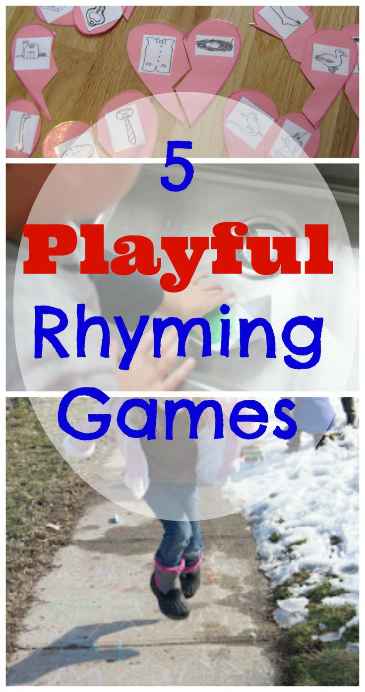 5 Rhyming games for kids - rhyming is the first step to reading ... keeping it fun is a great way to develop a love of reading in kids!