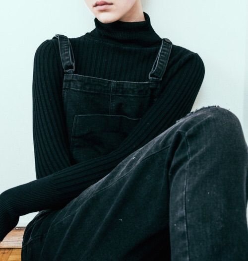 Turtleneck with overalls. If wanted a super casual look.