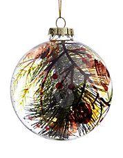 Alpine Cabin Glass Tree Ornament