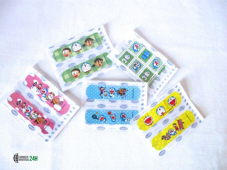 """Seguimos con nuestras recomendaciones para la vuelta al cole,Tiritas Hansplast:  #Tiritas Disney de Doraemon, con 16 unidades, cuidan de las #heridas de los niños con unos #diseños novedosos y divertidos.  Este producto está dentro de la promoción de Septiembre """" La vuelta al cole """". ¡No pueden faltar en tu botiquín!  *Promoción válida en tienda física."""