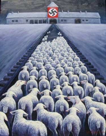 """""""Auschwitz begins whenever someone looks at a slaughterhouse and thinks: they're only animals."""" This is definitely what I thought about slaughterhouse. :("""