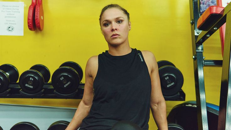 Ronda Rousey's Next Fight: Body Image in Hollywood | Ms. Rousey, 28, a tight coil of muscle and moxie, is helping slake the entertainment industry's sudden thirst for female feistiness. The first American woman to win an Olympic medal (bronze) in judo, she turned to mixed martial arts in need of a new challenge, and a reason to give up the drinking, smoking and pill-popping that seduced her after her success in Beijing in 2008.