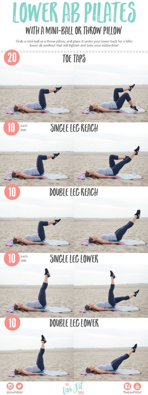 Lower Ab Pilates {with a Mini-Ball} & How I Fuel My Workouts! •