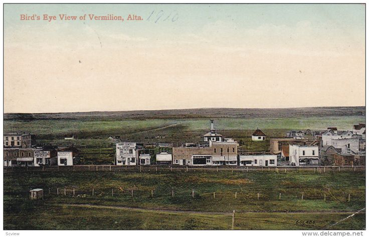 VERMILION, Alberta, Canada, PU-1910; Bird's Eye View