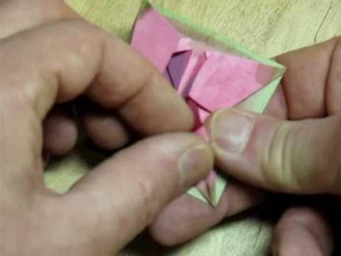 Folding the Origami Bonsai Iris Flower