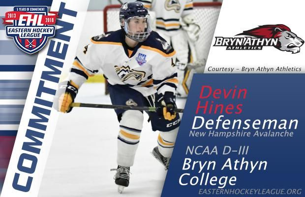 Hines Commits To Bryn Athyn College Hockey Bryn Athyn Commitment