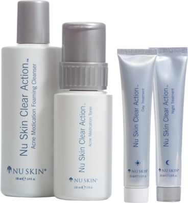 Clear Action Acne Medication System - This comprehensive, clinically proven system will give you smoother, clearer skin as it fights past, present, and future signs of breakouts. (www.nuskin.com/thesource)